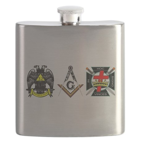 Multiple Masonic Bodies Flask
