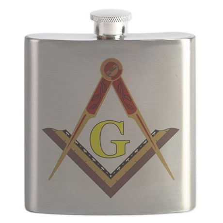 Traditional Square and Compass Flask