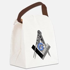 Masonic Square and Compass #2 Canvas Lunch Bag