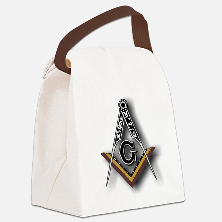 Masonic Square and Compass Canvas Lunch Bag