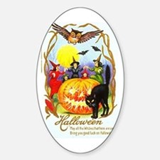 Happiest Halloween Oval Decal