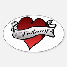 Johnny Tattoo Heart Oval Decal