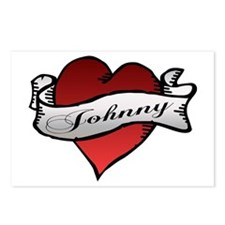 Johnny Tattoo Heart Postcards (Package of 8)