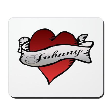 Johnny Tattoo Heart Mousepad