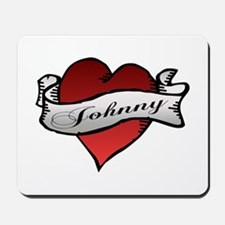 Johnny Tattoo Heart Mousepad