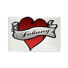 Johnny Tattoo Heart Rectangle Magnet (10 pack)