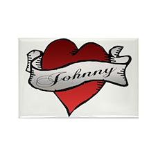 Johnny Tattoo Heart Rectangle Magnet