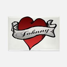 Johnny Tattoo Heart Rectangle Magnet