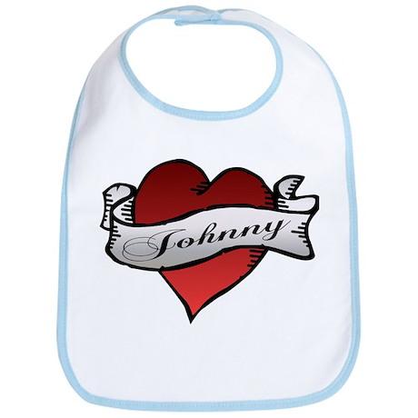 Johnny Tattoo Heart Bib