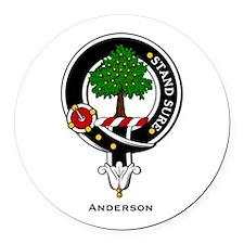 Anderson.jpg Round Car Magnet