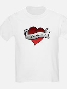 Johnny Tattoo Heart Kids T-Shirt