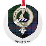 Armstrong Clan Crest Tartan Round Ornament