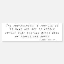 Propaganda Bumper Bumper Sticker