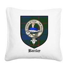 Barclay Clan Crest Tartan Square Canvas Pillow