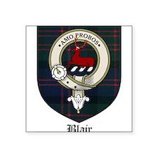 "Blair Clan Crest Tartan Square Sticker 3"" x 3"""