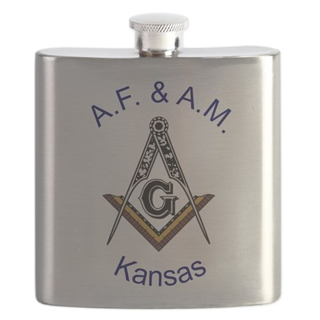 Kansas with traditional No 5.png Flask