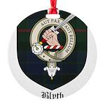 Blyth Clan Badge Tartan Round Ornament
