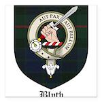 Blyth Clan Badge Tartan Square Car Magnet 3