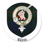 Blyth Clan Badge Tartan Round Car Magnet