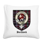 Borthwick Clan Crest Tartan Square Canvas Pillow