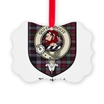 Borthwick Clan Crest Tartan Picture Ornament