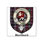 Borthwick Clan Crest Tartan Square Sticker 3