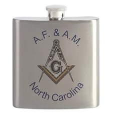 North Carolina with traditional No 5.png Flask