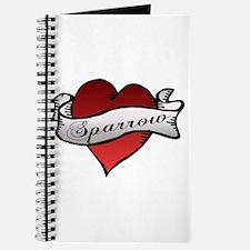 Sparrow Tattoo Heart Journal