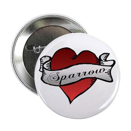 "Sparrow Tattoo Heart 2.25"" Button (100 pack)"