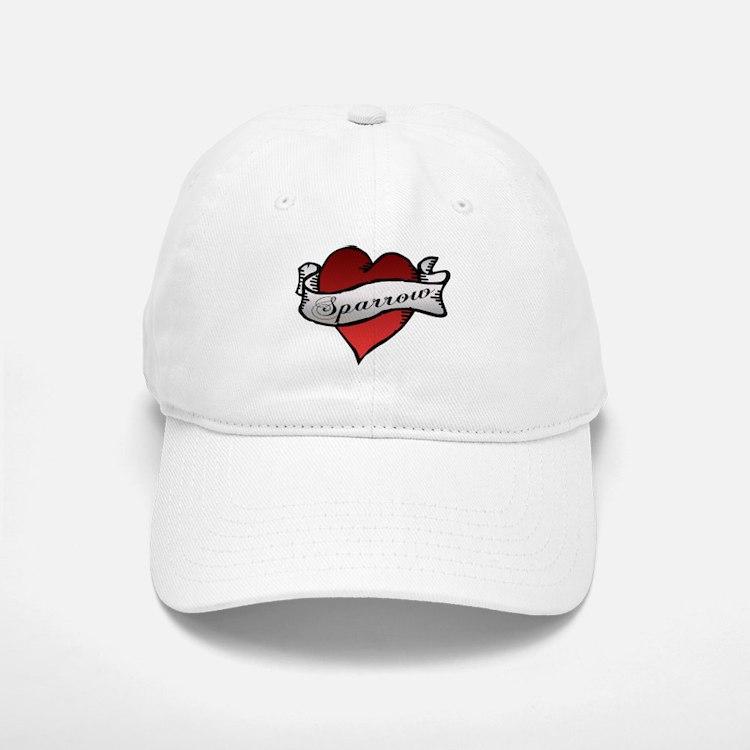 Sparrow Tattoo Heart Baseball Baseball Cap