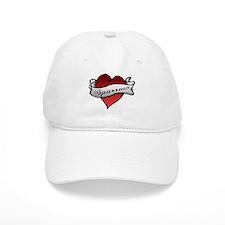 Sparrow Tattoo Heart Baseball Cap