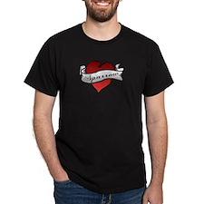 Sparrow Tattoo Heart T-Shirt