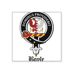 Boyle Clan Badge Crest Square Sticker 3