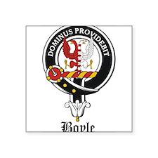 "Boyle Clan Badge Crest Square Sticker 3"" x 3"""