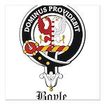 Boyle Clan Badge Crest Square Car Magnet 3
