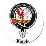 Boyle Clan Badge Crest Round Car Magnet