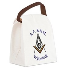 Wyoming with traditional No 5.png Canvas Lunch Bag