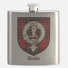 Brodie Clan Crest Tartan Flask