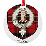 Brodie Clan Crest Tartan Round Ornament