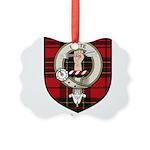 Brodie Clan Crest Tartan Picture Ornament