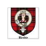 Brodie Clan Crest Tartan Square Sticker 3
