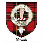 Brodie Clan Crest Tartan Square Car Magnet 3