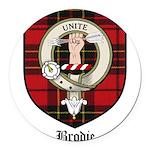 Brodie Clan Crest Tartan Round Car Magnet