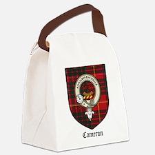 Cameron Clan Crest Tartan Canvas Lunch Bag