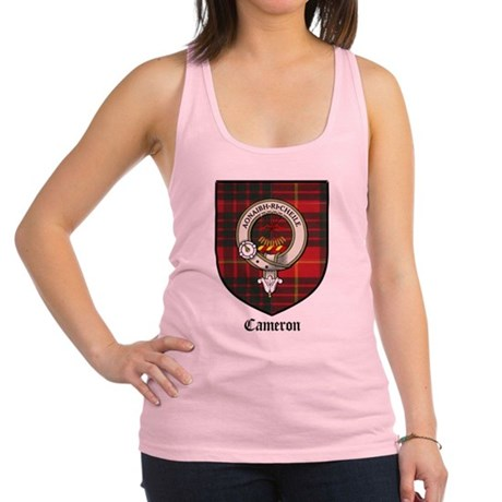 Cameron Clan Crest Tartan Racerback Tank Top