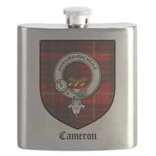 Cameron Clan Crest Tartan Flask