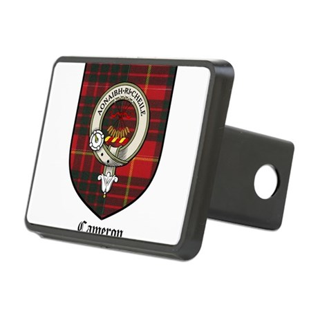 Cameron Clan Crest Tartan Rectangular Hitch Cover