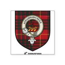 "Cameron Clan Crest Tartan Square Sticker 3"" x 3"""