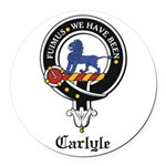 Carlyle.jpg Round Car Magnet
