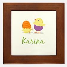 Easter Chick Karina Framed Tile